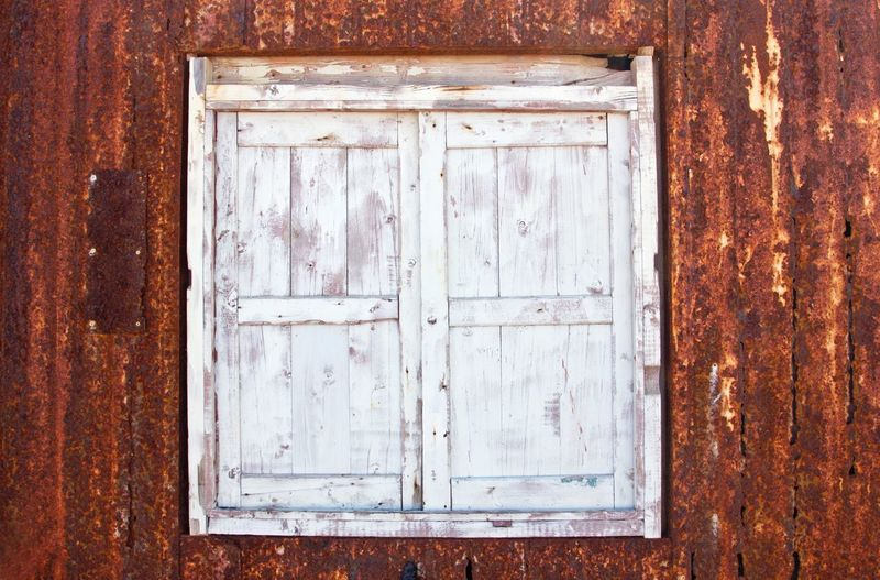 Yellow White Old Texture Textured  Textures And Surfaces Background Wood Background Window Windows Closed Metal Corrigated Corrigated Steel Wooden Window Closed Window  Safe Safety