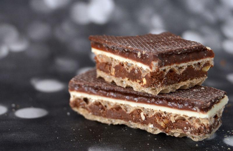 waffle, chocolate Chocolate Close-up Filling Up The Tank Food Freshness Layers Macro No People Sweet Sweet Food Waffer Wafle