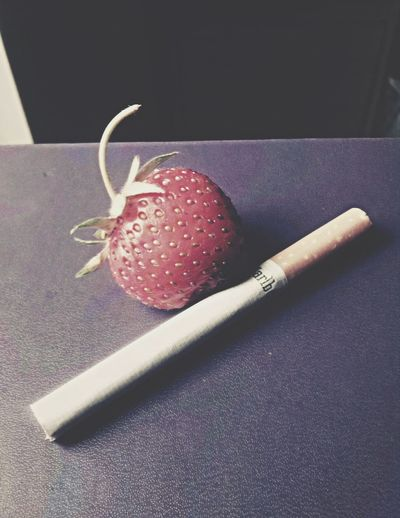 Strawberry Cigarettes Smoking Abstract