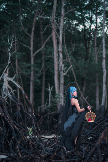 Remilia Scarlet - forbidden forest Remilia Scarlet Touhou Project Cosplay Girl People Malaysia Asdgraphy Flash Strobe Godox Sony A6000 Sony Sonyimages Sonyalpha Sonyphotography 85mm Forest Tree One Person Leisure Activity People One Woman Only Adults Only Side View Fashion Women Portrait