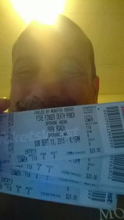Five Finger Death Punch Papa Roach In This Moment ThatsMe Selfie Concert Live Music just got my tickets today. Gotta wait IMPATIENTLY for three months!!!!!