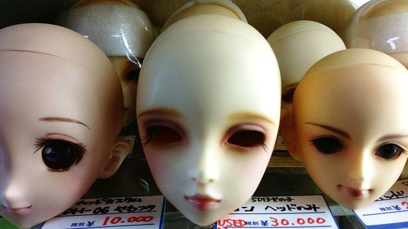 Doll Heads Indoors  Business No People Japan Photography Japan Dolls Doll Photography Doll Doll Heads Tokyo Nakanobroadway Nakano HEAD Day Creepy Face