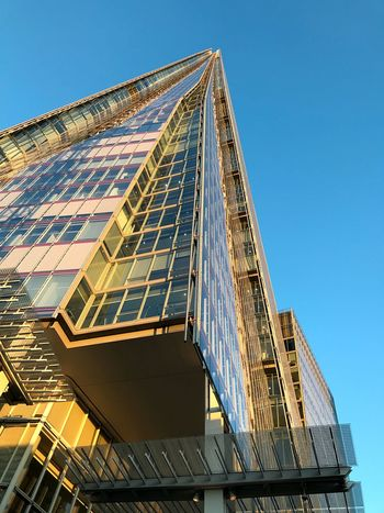 Shard London Architecture Built Structure Low Angle View Modern Building Exterior Clear Sky Skyscraper Day Blue No People Outdoors Sky City