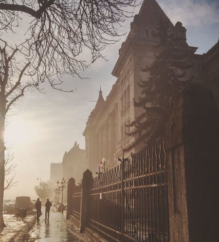 Travel Travel Destinations Sunset Fog Architecture Outdoors Sky No People Day Bme Budapest Hungary First Eyeem Photo