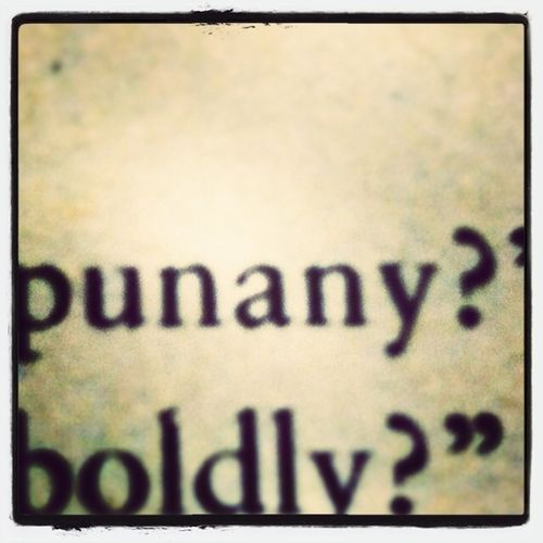I Knew I Wasnt The Only Person Who Said PUNANY