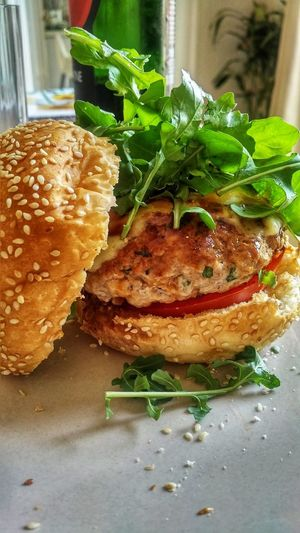 Home made burgers.......... 😆 Organic Food Burger Home Made Burger EyeEm Food Stories EyeEm Food Lovers EyeEm Food Photography Food Stories Food And Drink Food Indoors  Freshness Ready-to-eat No People Table Healthy Eating