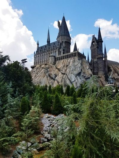 Architecture Day No People Outdoors Travel Destinations Building Exterior Tree Sky Hogwarts Castle Island Of Adventure Florida Usa