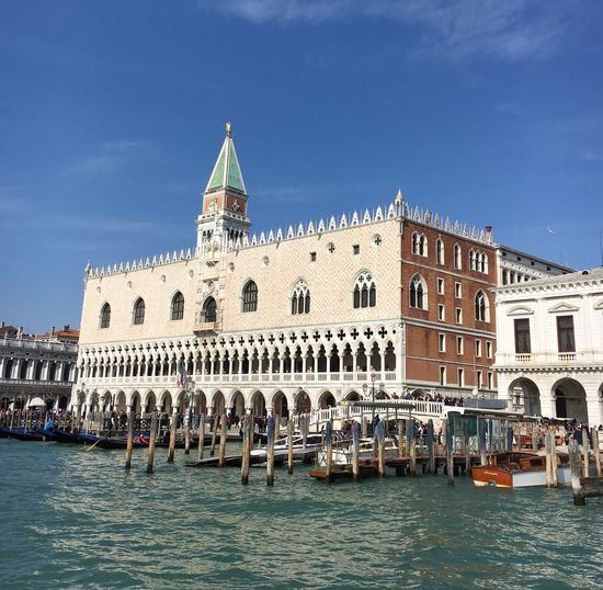 Doge palace and san marco campanile against sky