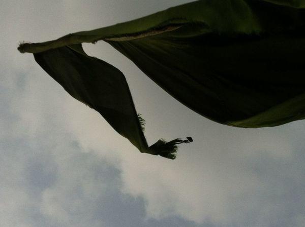 Pennant in tyhe breeze Cloud Cloud - Sky In The Breeze Pennant Silhouette