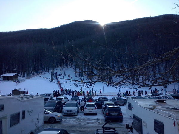Tree Snow Mountain Winter Cold Temperature High Angle View Sunset Sky Landscape Ski Lift Winter Sport Snowboarding Scenics Ski Holiday Go Higher