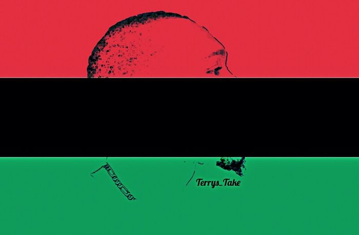 U.N.I.A respects Marcusgarvey RBG Red Black Green Flag Cut And Paste