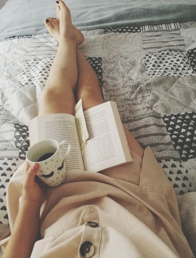 Human Hand Low Section Women Human Leg Bed Nail Polish Relaxation Lying Down barefoot Newspaper