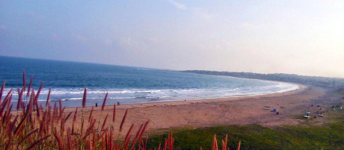 scenic view of Beach .... My Fav hangout Place <3 Beautiful Beauty In Nature Beauty In Nature Flower Garden Horizon Over Water India Indiapictures Nature Nature No People Outdoors Scenics Sea Sea And Sky Shore Sky Visakhapatnam Vishakapatnam Vizag Vizag Beach Vizag Beach View Vizag City Water My Year My View Perspectives On Nature