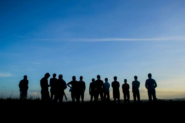 Real friend will always be a real friend Calm Happy People Morning Light Morning Sky Nature Photography Adult Beauty In Nature Day Large Group Of People Lifestyles Men Nature Outdoors People Real People Silhouette Sky Standing Sunset Togetherness Women