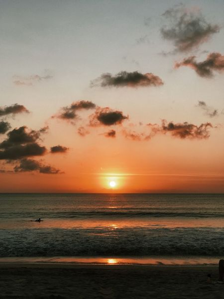 Sunset in Jimbaran Sea Sunset Horizon Over Water Scenics Beauty In Nature Tranquil Scene Beach Tranquility Idyllic Nature Water Sky Sun No People Travel Destinations Outdoors Done That.