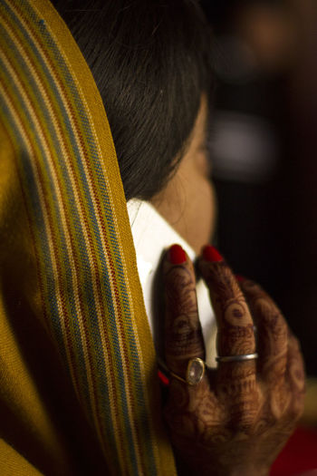 Traditional Haldi Ceremony Haldi Haldi Ceremony Indian Wedding Mehndi Tradition Adult Close-up Human Body Part Human Hand Indoors  Mehendi One Person People Real People Striped