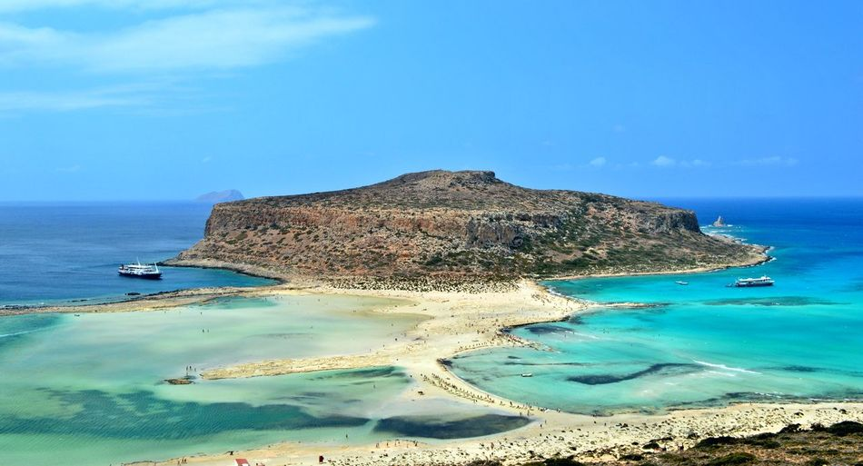 Mesmerizing view of Balos beach on island Crete Beach Beauty In Nature Blue Calm The Magic Mission Coastline Geology The Great Outdoors - 2017 EyeEm Awards Horizon Over Water Nature Balos Ocean Outdoors Scenics Sea Shore Sky Summer Tourism Tranquil Scene Tranquility Travel Destinations Vacations Water Been There. Summer Exploratorium
