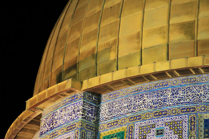 ALAQSA Alaqsamosque Architecture Built Structure City Cultures Gold Colored Jerusalem Low Angle View Night No People Outdoors The Dome Of The Rock Tourism Travel Travel Destinations