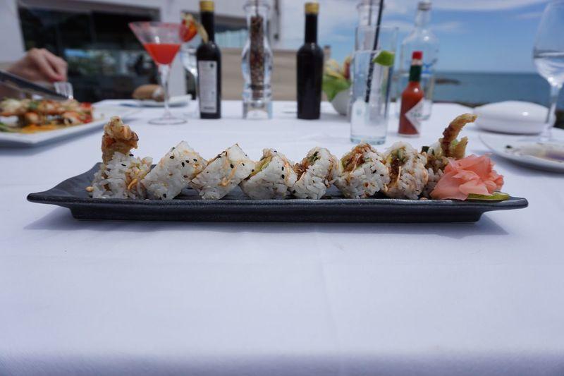 Sushi Food Sea Sun Beach Club Luxury First Eyeem Photo