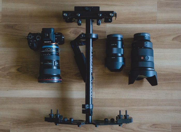 My hybrid gear Check This Out Taking Photos SONY A7ii Canon Overhead View Glidecam Gear Photography Filmcamera
