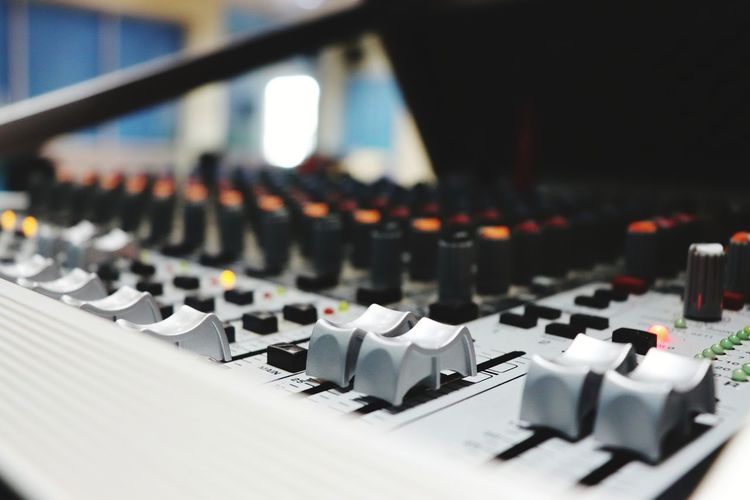 Close-up of musical equipment