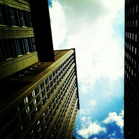 View of Buildings and Sky from Sunroof . Pretty Mothersday Love Happiness