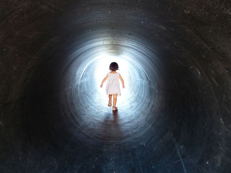 Girl Tunnel Of Light Paradise White Dress Babygirl Running Visions Of Emptyness Childhood Child Cute Beauty Playground Playing Art Is Everywhere Resist BYOPaper! A New Beginning 50 Ways Of Seeing: Gratitude A New Perspective On Life Capture Tomorrow
