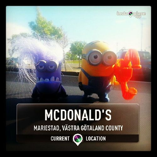 Pitstop for some food and fun ? McDo Toys DispecableMe2 Instaplaceapp @instaplacemobi androidonly androidnesia Mariestad Sweden
