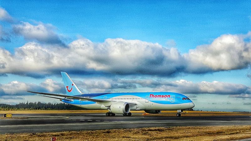 Boing787 Dreamliner Airport Airside On The Ground Samsungphotography Showcase: February Aircraft Taking Photos Clouds And Sky Taxiway Playing With Filters Comercial Airline Vacation Time