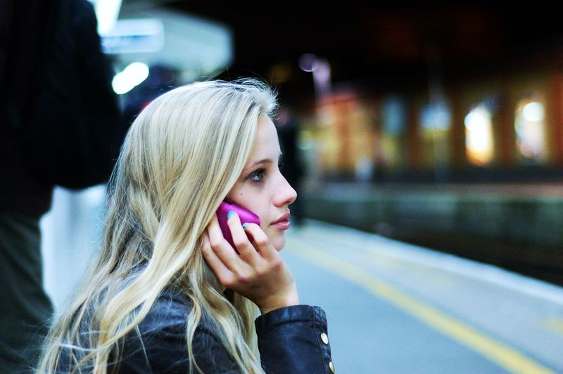Adult Beautiful Woman Blond Hair Close-up Day Focus On Foreground Headshot Leisure Activity Lifestyles Mobile Phone One Person Outdoors People Phone Phone Call Real People Waiting Women Young Adult Young Women EyeEm LOST IN London Fresh On Market 2017