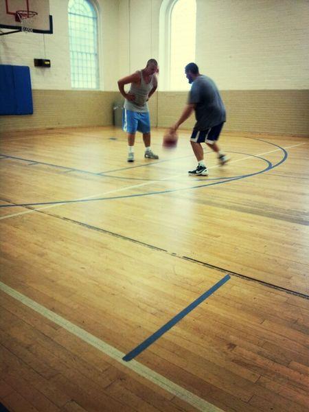 My Man Playing Basketball! Rob & Friend Shawn