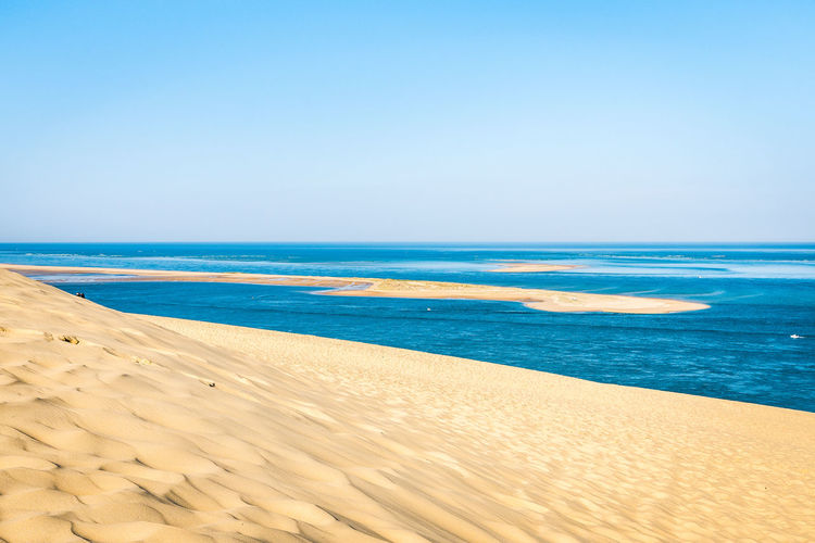 Sea Water Sky Beach Land Scenics - Nature Beauty In Nature Horizon Over Water Sand Horizon Tranquil Scene Tranquility Copy Space Clear Sky Idyllic Nature Blue Day No People