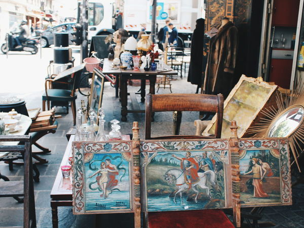 Abundance Antique Antique Shop Antiques Antiquity Arrangement Day Empty Focus On Foreground Furniture Group Of Objects Large Group Of Objects Market Stall No People Old Things Paris Retail  Shop Shopping Street The Shop Around The Corner