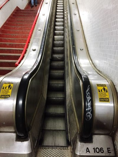 Text Indoors  Convenience No People Day Close-up Subway Stairs Eacalator Commuting Chicago The L