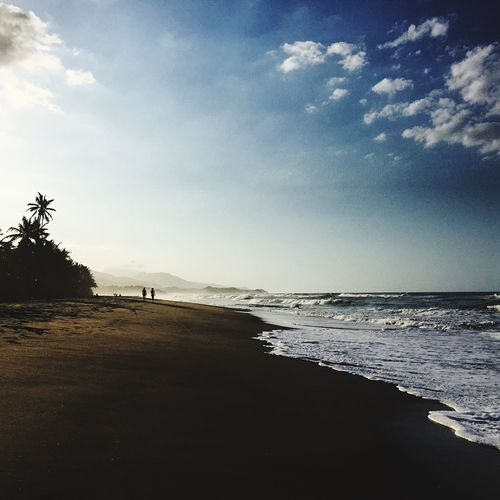 Playa en la costa colombiana Afternoon Sky Beach Water Land Sea Scenics - Nature Beauty In Nature No People Nature Tranquil Scene Horizon Over Water The Great Outdoors - 2018 EyeEm Awards