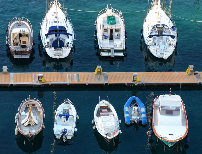 top view of boats. Top View Top Perspective Top View Shot Boats And Water Boats And Moorings Boats And Sea Italy Traveling Travel Destinations Vacations Amalfi Coast Sea Life Sailing Ship Nautical Vessel Water Harbor Sea Moored Nautical Equipment Astrology Sign Sailing Commercial Dock Yachting Fishing Industry Boat Deck Fishing Net Fishing Equipment Fishing Boat Trawler Commercial Fishing Net