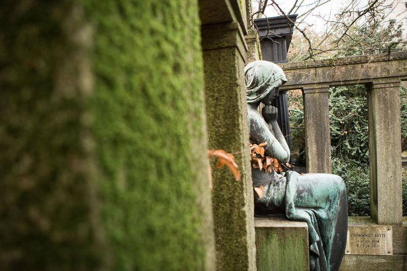 Sculpture in cemetery