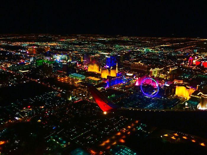 LasVegas👄🍸🍷 NEVADA, USA!♡ Illuminated Night Sky