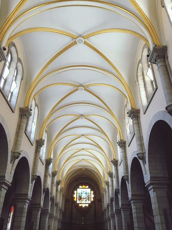 Arch Place Of Worship Religion Architecture Spirituality History Architectural Column Indoors  Low Angle View No People Built Structure Day