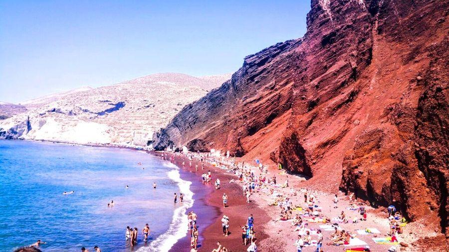 EyeEmNewHere Blue Sky Blue Aegean Sea Beauty In Nature Santorini Island GREECE ♥♥