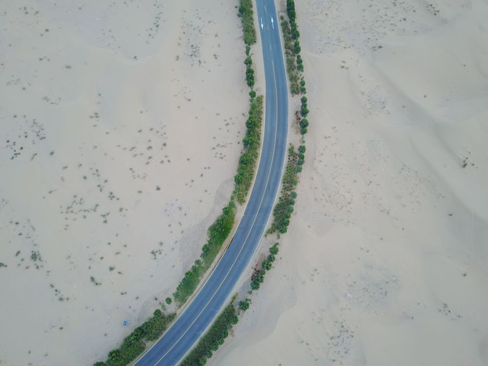 Desert Dubai Arab Beauty In Nature Day Full Frame Nature No People Outdoors Sand Street Water