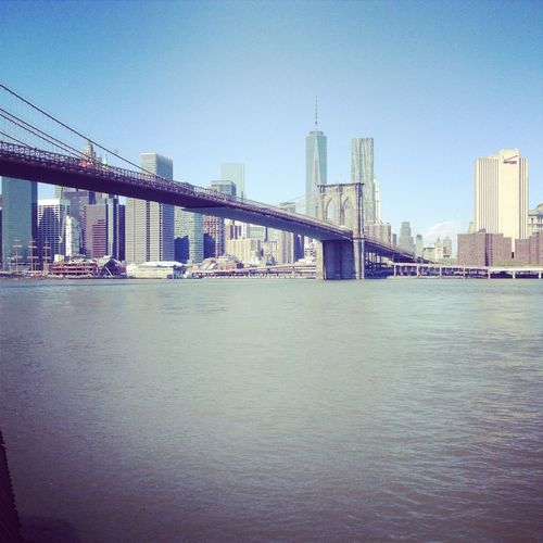 Amazing View Bridge Brooklyn Hudson River Modern Architecture Museum New York City Sejimakazuyo