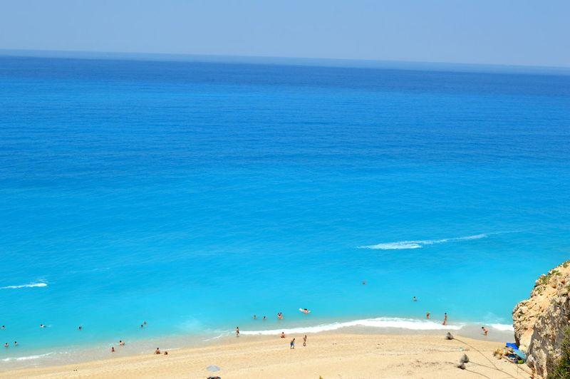 Milos beach in