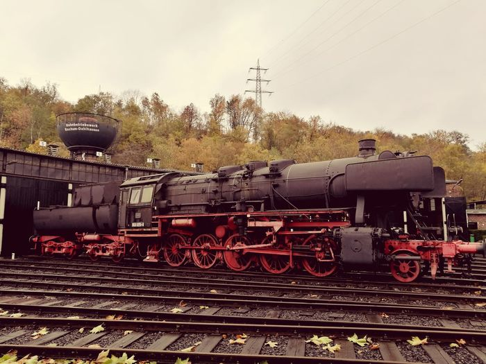 Steam Aera Eisenbahnmuseum Bochum Dahlhausen  Historical Building Historic Places Vintage Railway Railroad Steam Train Locomotive Railroad Track Train - Vehicle Rail Transportation Sky Public Transportation Railway Signal