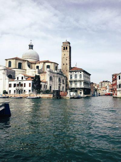Venice Italy Venezia Canal Architecture Church