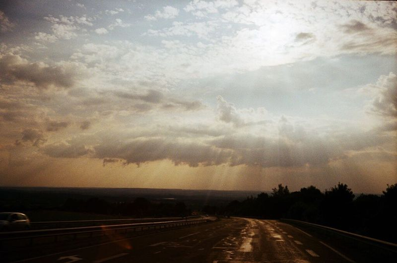 Cloud - Sky Transportation Dramatic Sky Sky Road The Way Forward Nature Outdoors Storm Cloud Sunset Scenics No People Beauty In Nature Thunderstorm Day Tree Cyclone