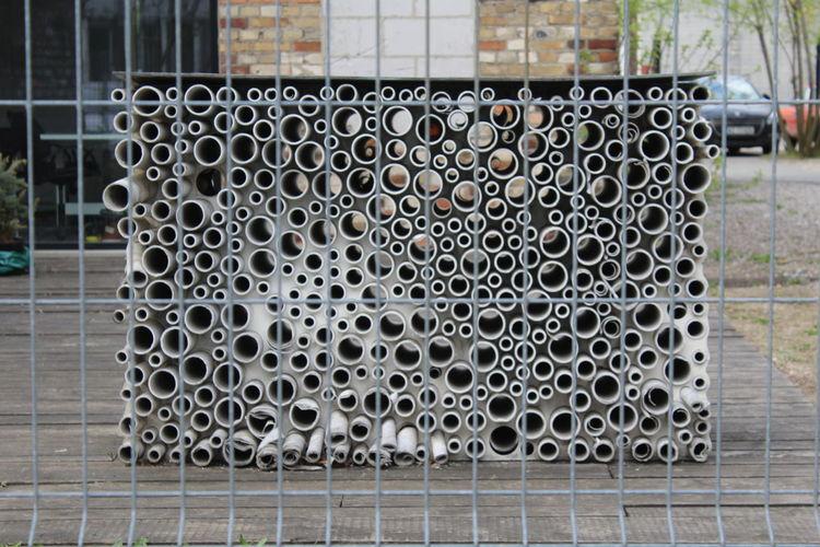 Close-up of railing
