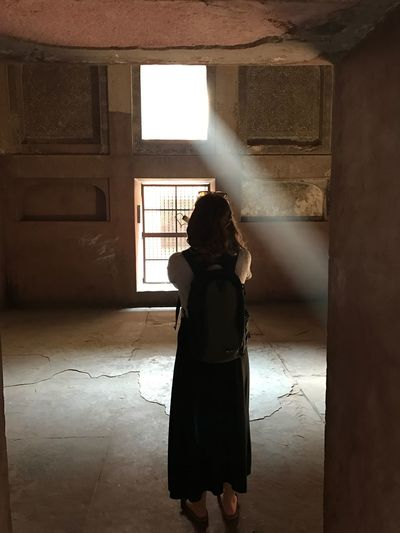 Architecture Beamsoflight Built Structure Childhood Day Full Length Hope Indoors  Leisure Activity Lifestyles One Person People Real People Rear View Shadow Silhouette Standing Streetview Sunlight Window