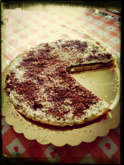Hand Made brava mamma! Torta Ricotta E Nutella!very Buona! Domanimattinatoccacorrerexsmaltirla!