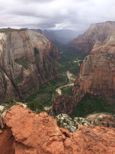 Utah Hike View Canyon Zion Zion National Park Mountain Tranquil Scene Scenics - Nature Beauty In Nature Sky Tranquility Cloud - Sky Landscape Rock Formation